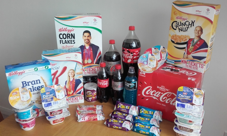 A range of corporate sponsors of Team GB and Team Ireland