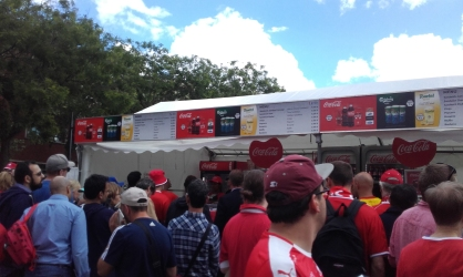 Queues and menus at Euro 2016 in Paris