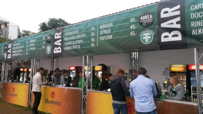 Menu at a Euro 2016 Fanzone in Oslo, Norway